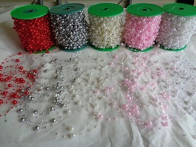5 Meters Fishing Line Artificial ABS Pearl Beads Chain Garland Wedding Decor