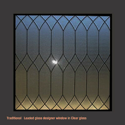 Beautiful Genuine Leaded glass window Heritage design in Clear Glass