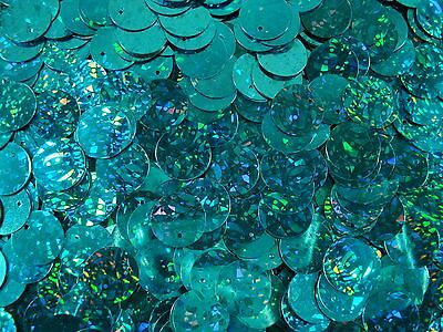 Sequin Flat Discs 14mm. Laser Turquoise 20g Dance Clothes Clothing FREE POSTAGE