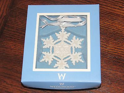 Wedgwood Jasperware Solid White Snowflake Christmas Holiday Ornament