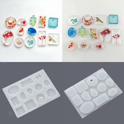 Pendant Silicone Mold Jewelry Making Tools Beading Round Square Shape Maker