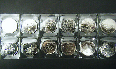 1999 Canada Millennium 12 coin set Quarter 25 cent 25c Canadian Uncirculated BU