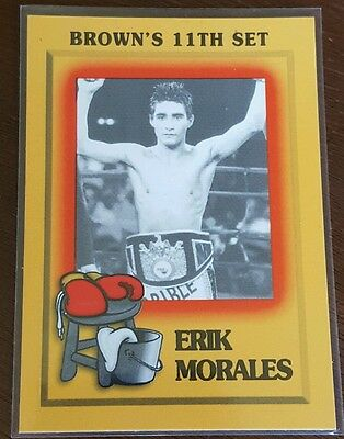 1997 Brown's Boxing CARD  11th SET ERIK MORALES ROOKIE ONLY ONE ON EBAY