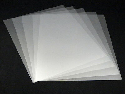 (5 pcs) Mylar stencil sheet film 13.3in x 10.6in  (340mm x 270mm) 4mil Clear