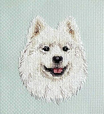 SAMOYED dog, puppy ~ Full counted cross stitch kit + All materials to sew it