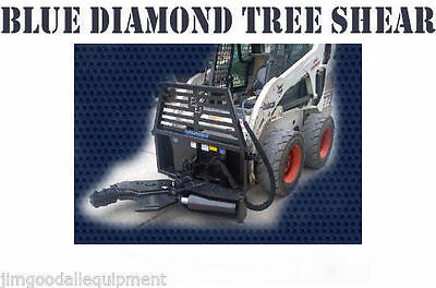 "Skid Steer Tree Shear,Requires 15 G.P.M, Cuts Up To 12"" Trees,5"" x 12"" Cylinder"