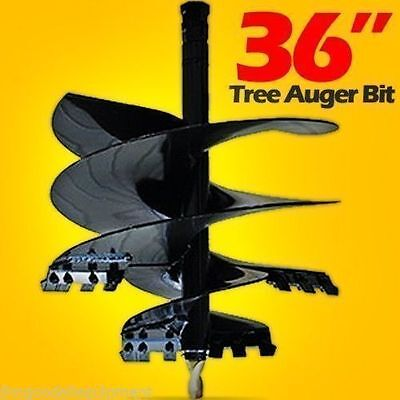 "36"" Skid Steer Tree Auger Bit Skid Steers,48"" L,Uses Round Drive,McMillen,USA"