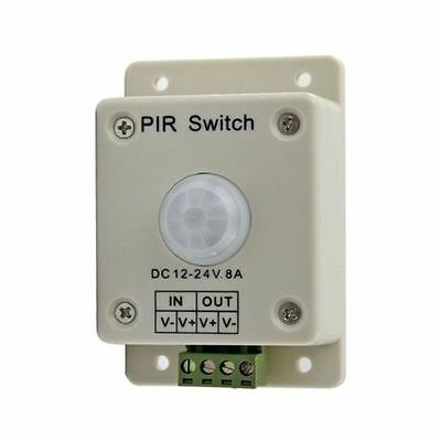 DC 12V-24V 8A Automatic Infrared PIR Motion Sensor PIR Switch For LED Light