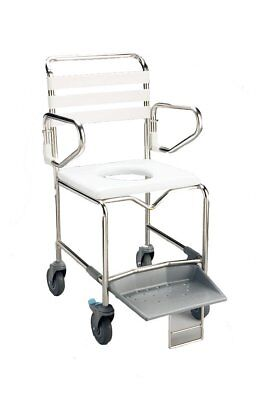 NEW Commode/Shower Chair Mobile - 160kg Personal Assistive Mobility Equipment