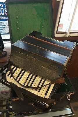 Very Early Alpina Accordian Great Shape With Snake Skin Case