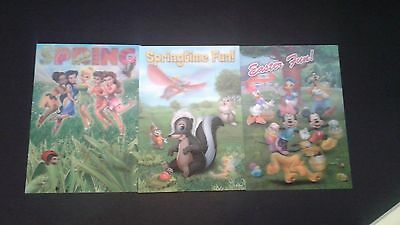 Disney Movie Club 3D Lenticular Card Spring Time RARE collector's Lot of 3