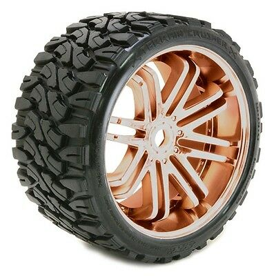 Sweep Terrain Crusher Belted Tyre Bronze 17mm Wheels 1/4 Offset (Pair) - SRC0002
