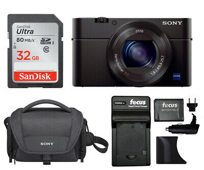 Sony Cyber-shot RX100M III 20.1 MP Digital Camera with 128GB Card + Accessories