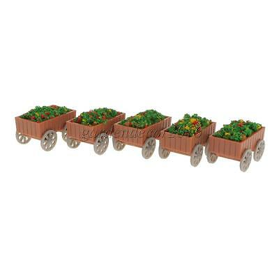 5 Model Floats Flowerbed Park Garden Parterre 1:50 Scale Model Figure Layout