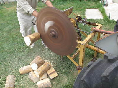 Antique Ford 8N 3 Point Saw PTO Tractor Cordwood Buzz Saw