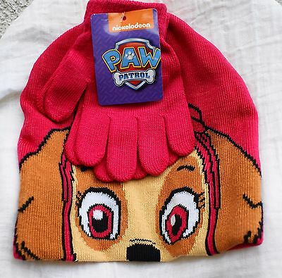 Paw Patrol hat and gloves set