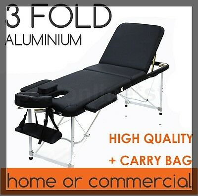 Aluminium body Massage Table Chair Bed foot Beauty Therapy Wax 3fold