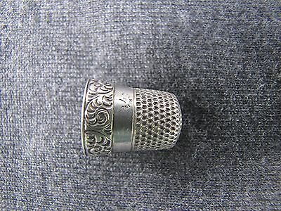 Antique sterling silver Simons and Bro. thimble