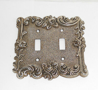 Vintage 1967 American Tack & Hardware Double Light Switch Plate Cover Roses