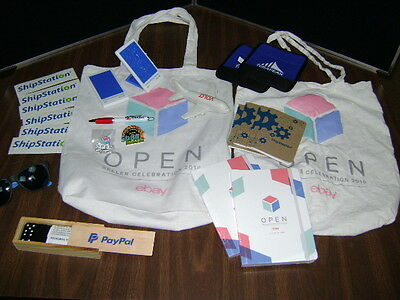 2016 eBay Open Seller Celebration Swag Bag Luggage Tag Pin Pens misc. Advertise