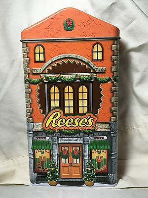 Hershey's Village Christmas Reese's Toy Store House Building Tin Box