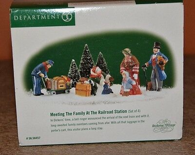 Dept 56 Dickens Village ~ Meeting The Family At The Railroad Station ~ #58457