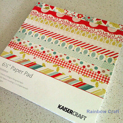 Discounted KAISERCRAFT paper pad 6.5 inch * 6.5 inch christmas Mistletoe Was $10