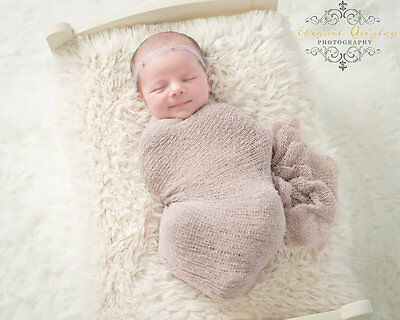 Cute Newborn Baby Knit Stretch Blanket Wrap Cocoon for Photo Photography Props