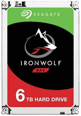 Seagate IronWolf 6TB SATA-6G 7200rpm 128MB NAS Drive ST6000VN0041 3 Yrs WTY