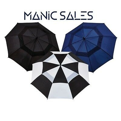 """3Pack Manic Sales 60"""" Double Canopy Golf Umbrellas"""