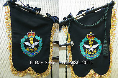 Genuine Regimental Highland Bagpipe Banner - Queen's Gurkha Engineers Pipe Band