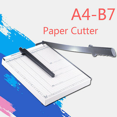 A4-B7-Size-Paper-Cutter-Guillotine-Trimmer-Paper-Knife-Metal-Base-Device-White