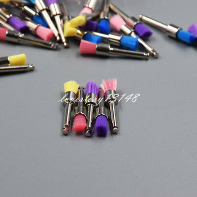 100Pcs Dental Mixed Color Nylon Latch Flat Polishing Polisher Prophy Brushes Hot