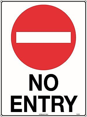 No Entry Traffic Safety Sign 600x450mm Metal