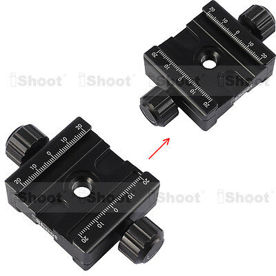 2-sided Clamp for ARCA-SWISS AS 39mm Long Camera Tripod Quick Release Plate