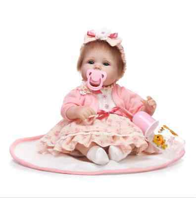 "Lovely 18"" Lifelike Real Reborn Newborn Baby Girl Doll Silicone Vinyl Palymate"