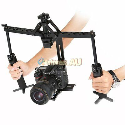 【AU】Dual Handheld Stabilizer Video Steadicam Steady For Canon Nikon Camcorder