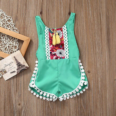 Newborn Baby Girls Clothes Sleeveless Romper Bodysuit Jumpsuit Sunsuit Outfits