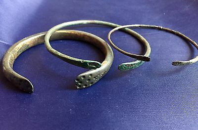 Ancient Roman Bracelets Set Of 3 Bronze
