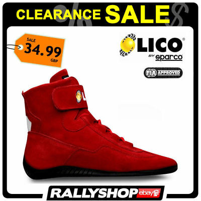 FIA Lico By Sparco Suede Shoes High Fire shoes, size 39 Rally Race Sport SALE
