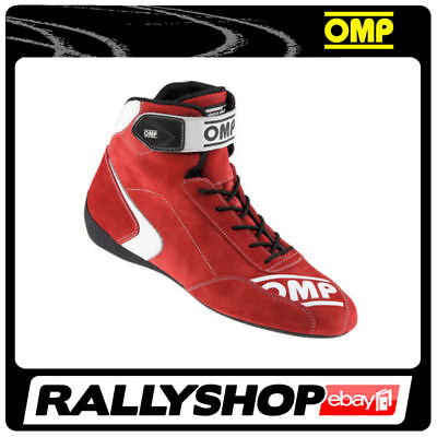 FIA Approved OMP First S Shoes, size 43 FREE DELIVERY WORLD! Red