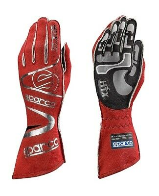 FIA Sparco Arrow RG-7 Gloves, size 10 FREE DELIVERY RED (Rally, Race, Kart) M
