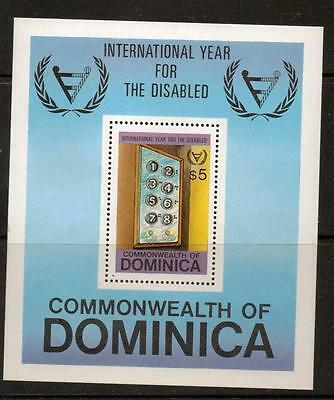Dominica Sgms786 1981 Year Of The Disabled Mnh