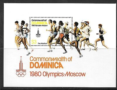 Dominica Sgms714 1980 Olympic Games  Mnh