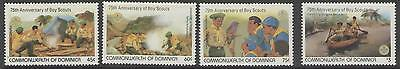 Dominica Sg825/8 1982 Scouts  Mnh