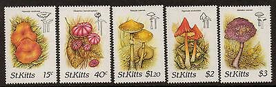 St.kitts Sg241/5 1987 Fungi Mnh
