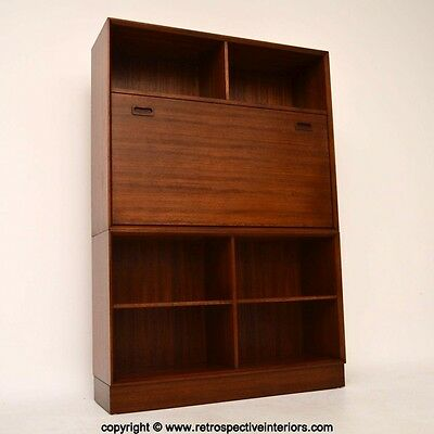RETRO AFROMOSIA BUREAU BOOKCASE / DESK BY G- PLAN VINTAGE 1960's