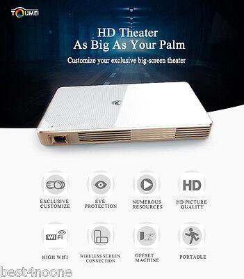 TOUMEI C800 DLP Android 4.4 WIFI 1080P HD BT4.0 Smart Media Player LED Projector