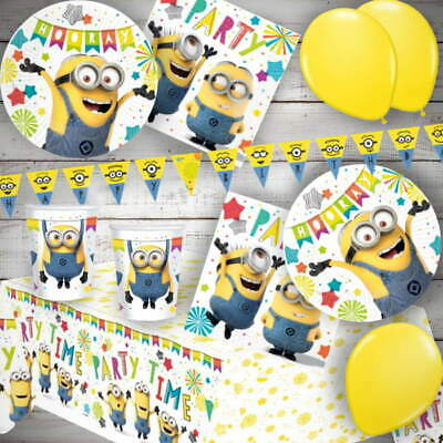 Despicable Me | Lovely Minions | Yellow Card Party Face Masks | Favours 1-48pk