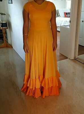 Flamenco Dress size 12 Medium Orange
